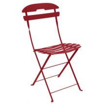 Fermob Chaise pliante La Môme, Piment, Métal. l:44cm h:84cm