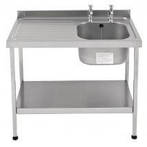 Franke Sissons Self Assembly Stainless Steel Sink Left Hand Drainer 1200x600mm