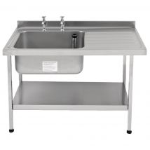 Franke Sissons Self Assembly Stainless Steel Sink Right Hand Drainer 1200x650mm
