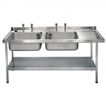 Franke Sissons Stainless Steel Double Sink Right Hand Drainer 1800x650mm