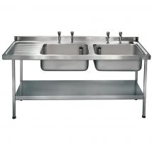 Franke Sissons Self Assembly Stainless Steel Double Sink Left Hand Drainer 1800x650mm