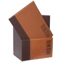 Securit Contemporary Menu Covers and Storage Box A4 Tan (Pack of 20) Pack of 20