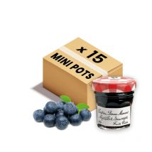 Confiture bonne maman - mini pot en verre de confiture de myrtille - 15x 30g