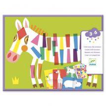DJECO - Knutselen met stickers - Grote dieren