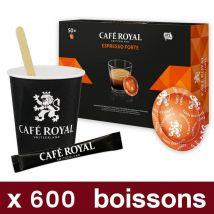 """Capsule nespresso pro café royal - espresso forte - pack pro """"medium"""" - 600 boissons"""
