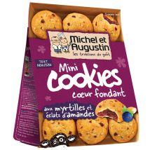 Mini cookies coeur fondant aux myrtilles, eclats d'amandes - michel et augustin
