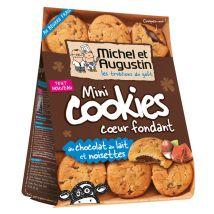 Mini cookies coeur fondant au chocolat au lait, noisettes - michel et augustin