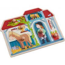 Haba - Plezante inlegpuzzel - In de paardenstal