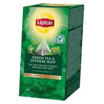 "Thé aromatisé lipton ""exclusive selection"" thé vert menthe intense - 25 pyramides"