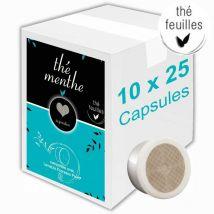 Capsule lavazza espresso point compatible inspiration thé menthe - 250 capsules + 160 gobelets offerts