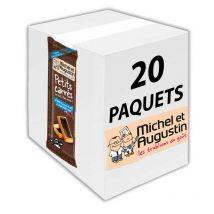 6 petits carrés au beurre, pointe de sel, chocolat noir - michel et augustin - 20 paquets