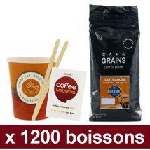 """Café en grains café de paris gastronome : pack pro """"large"""" recyclable - 1200 boissons"""