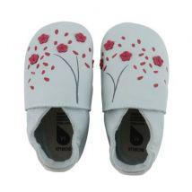 Bobux - Fijne Babyslofjes - Sky Cherry Blossom S (3-9 maanden)
