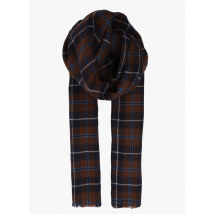 checked wool scarf bellerose check a3