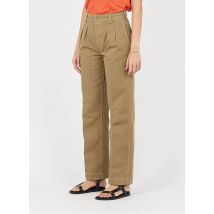 straight high-waisted denim pants bensimon kaki