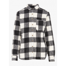 checked flannel over-shirt with classic collar