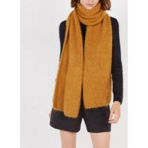 wool-blend scarf with metallic thread