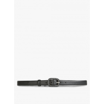studded leather belt with buckle i code noir