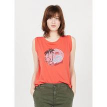 round-neck cotton tank top with screen print mkt