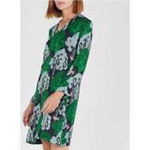 short printed v-neck dress nice things marine