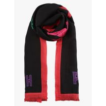 embroidered cotton scarf paul smith black