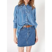 loose-fit silk shirt with classic collar levi's