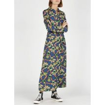 long belted printed satin dress scotch and soda