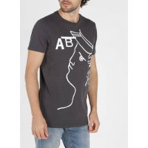 regular-fit round-neck cotton t-shirt with screen
