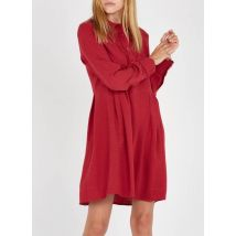 loose-fit embroidered linen-blend midi dress with