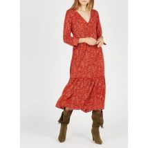 long printed dress with v-neck vila ketchup