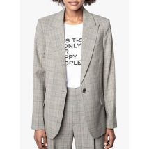checked wool-blend jacket with tailored collar