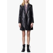 leather coat with tailored collar zadig&voltaire