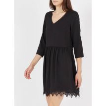 vestido corto de encaje con cuello de pico i code