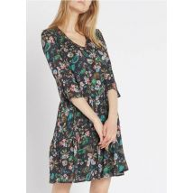 robe à imprimé fleurs baroques en crêpe one step