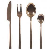 24-piece set of copper-coloured steel cutlery (27.2x5.5x19.7cm) - Maisons du Monde