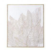 95x111cm two-tone engraved mango wood wall art (95x110.5x2cm) - Maisons du Monde