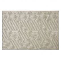 Alfombra tejida jacquard beis motivos decorativos en relieve 160x230 - Beige - 160x230x5cm - Maisons du Monde