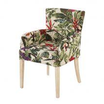 Armchair Cover with Multicoloured Plant Print (57x65x85.5cm) - Maisons du Monde