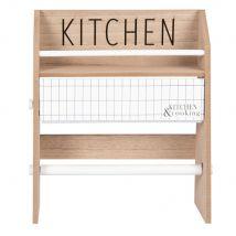 Beige, white and black eucalyptus kitchen roll holder rack (32.5x26x13cm) - Maisons du Monde