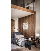 Bench in dark brown eucalyptus and mango wood L110cm (110x44.5x35cm) - Maisons du Monde