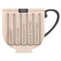 Black metal and eucalyptus coffee pod holder (29x0x37.5cm) - Maisons du Monde