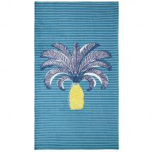 Blue Cotton Beach Towel with Print 90x180 - 90x180x0cm - Maisons du Monde