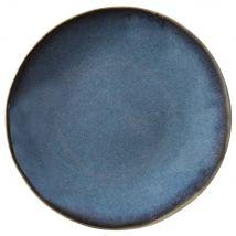 Set of 6 : Blue Stoneware Dessert Plate - Blue - 20x2.2x0cm - Maisons Du Monde