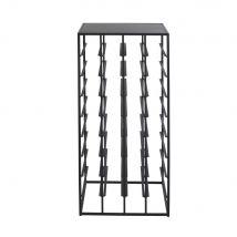 Bottle rack in black wire metal 37x80cm (37.5x80.5x37.5cm) - Maisons du Monde