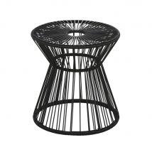 Bout de canapé de jardin en résine et métal noirs - Noir - 40x40x40cm - Maisons du Monde
