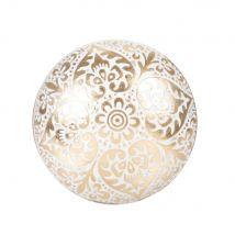 Brass doorknob with white print (5x4.5x4.5cm) - Maisons du Monde