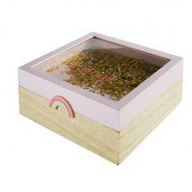 Caja rosa con arco iris - Rosa - 19.5x8x19.5cm - Maisons du Monde