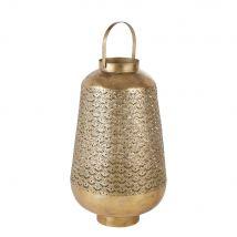 Candle lantern in gold cut-out metal H78cm (46x76.5x46cm) - Maisons du Monde