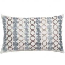 Cojín de algodón gris con motivos decorativos 30x50 - Gris - 50x30x0cm - Maisons du Monde