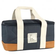 Cool bag in blue, brown and beige (28x14x18cm) - Maisons du Monde